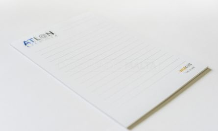 A notepad is a desk's best friend; perfect for jotting down minutes, memos and notes. This is an ideal practical small product that is great for fast access, suitable for every desk whilst keeping your branding on show.